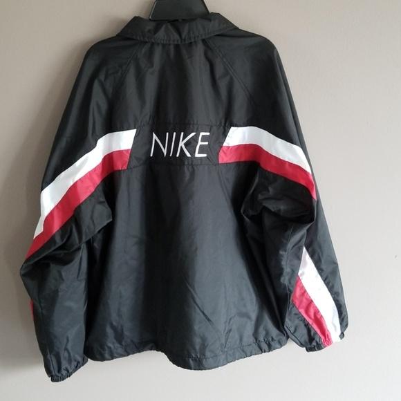 e1246bead Nike Jackets & Coats | Vintage Logo Black White Red Zipwindbreaker M ...